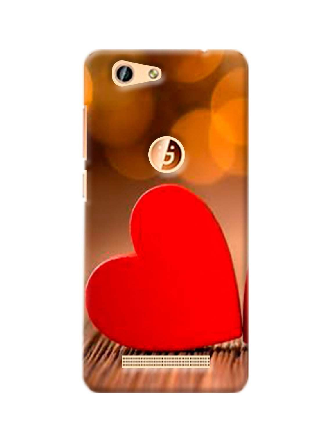Red Heart Printed Mobile Case For Gionee F103 Pro