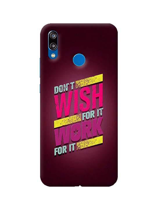 best sneakers 0f076 b9526 Don't Wish For It Work For It Pinted Mobile Case For Huawei P20 Lite