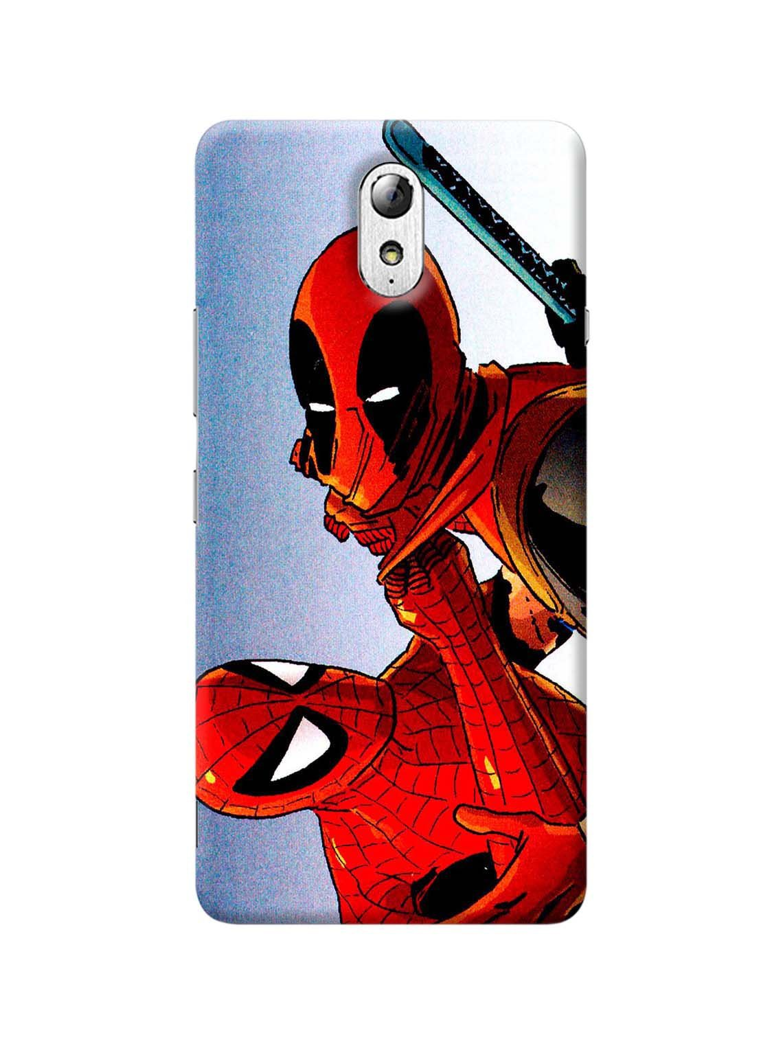 best sneakers 37ba9 71d52 Dead Pool & Spidy Printed Mobile Case For Lenovo Vibe P1M