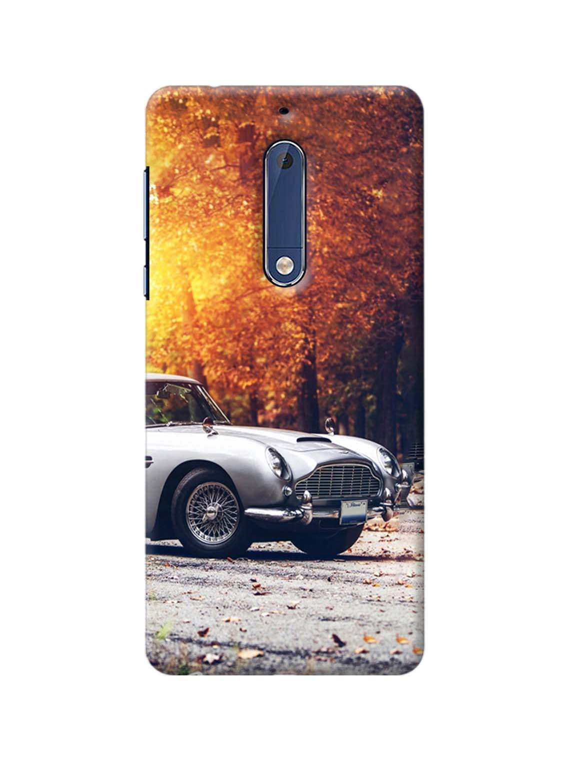 size 40 2fd50 b4c2a Antique Car Printed Mobile Case For Nokia 5