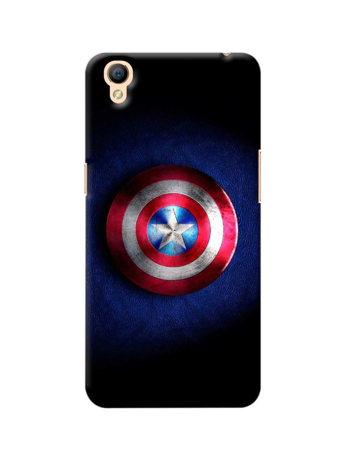 Captain America Shield Printed Mobile Case For Oppo A37