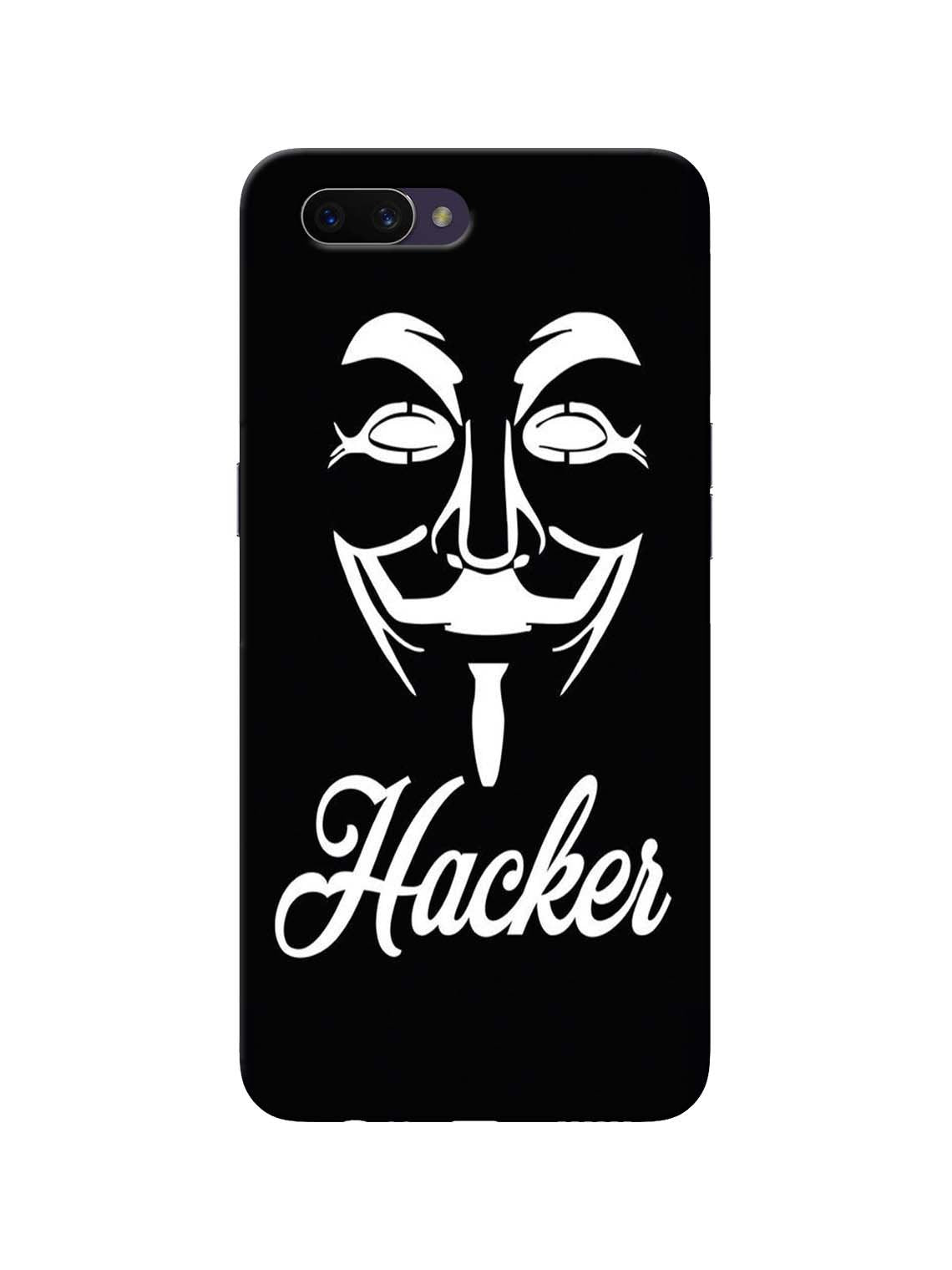 Hacker Printed Mobile Case For Oppo A3s / RealMe C1