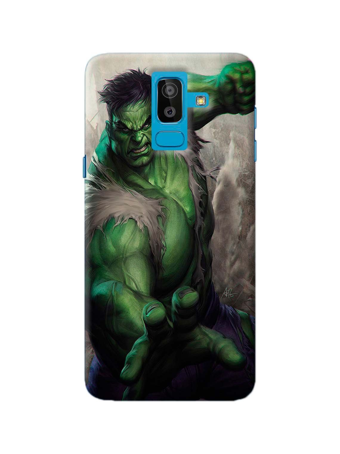 cheap for discount a9668 0d9f4 Incredible Hulk Printed Mobile Case For Galaxy J8