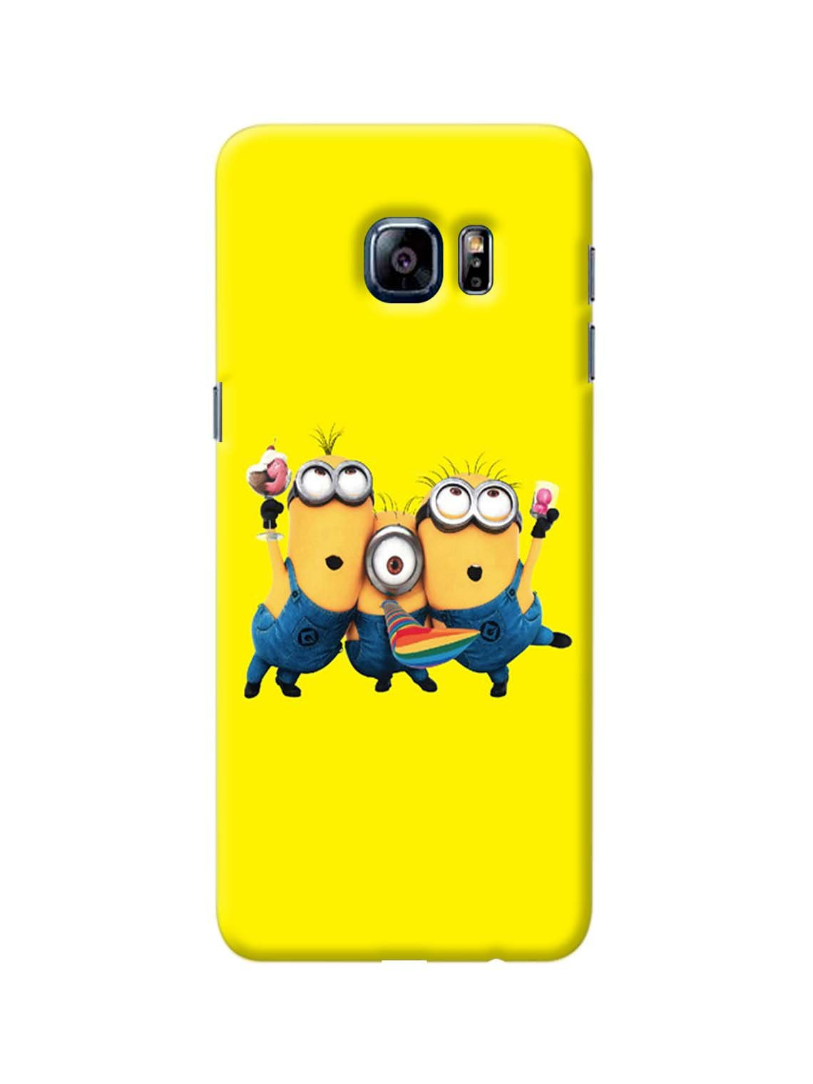 wholesale dealer 9571a ff9be Minion Party Printed Mobile Case For GALAXY S6 EDGE PLUS