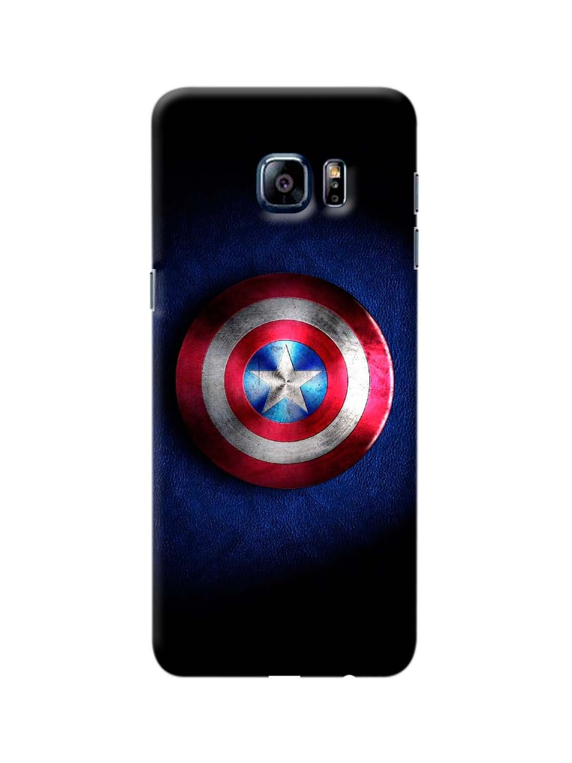 separation shoes ee0c2 cdeb9 Captain America Shield Printed Mobile Case For GALAXY S6 EDGE PLUS