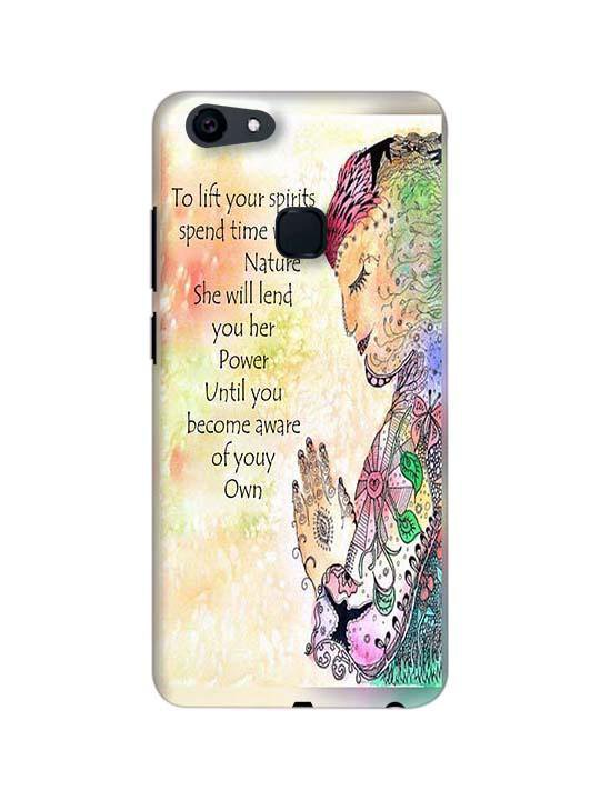 Motivational Quote Pinted Mobile Case For Vivo V7 Plus