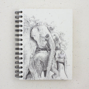 Large Notebook Family Elephant