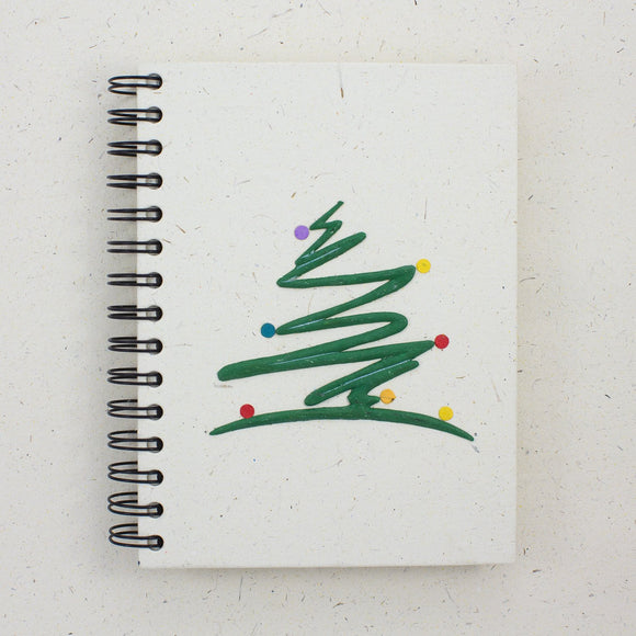 Large Notebook Modern Tree Natural White
