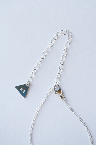 Sterling Silver Triangle Necklace