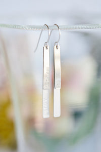 Sterling Silver Bar Earrings