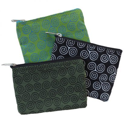 Spiral Coin Purse - Apple Green