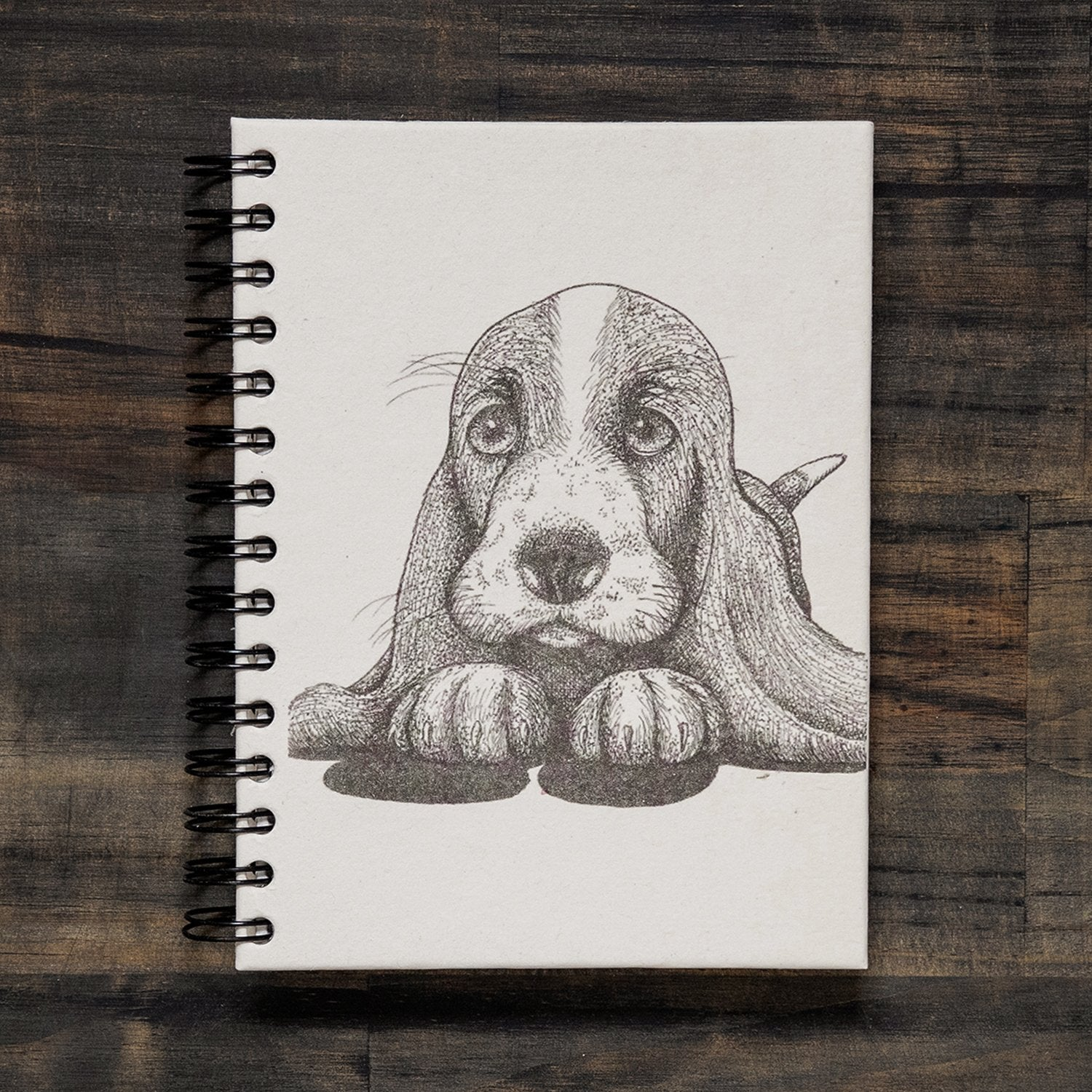 Large Basset Hound Notebook