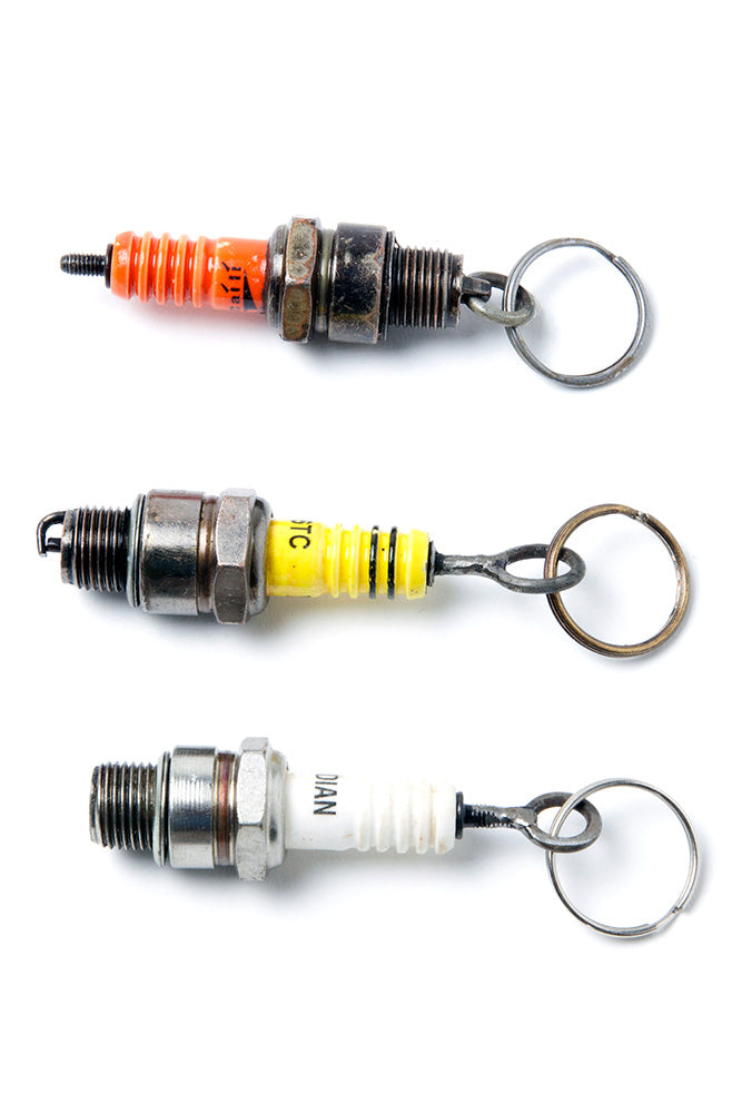 Recycled Spark Plug Key Ring