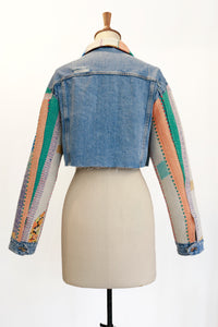 VINTAGE CROPPED DENIM JACKET REWORKED