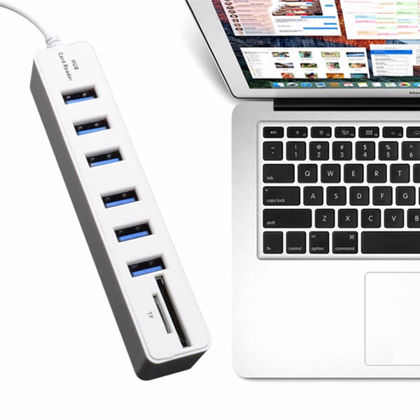 USB 2.0 Hub 6 Ports High Speed 480 Mbps