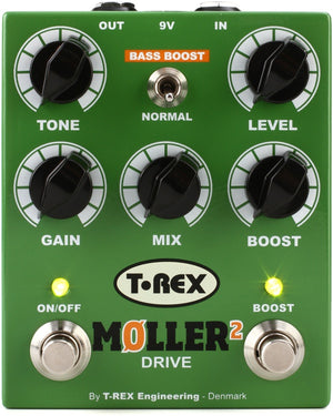 T-REX Moller 2 Classic Overdrive Pedal w/ Clean Boost 10034 - The Guitar World