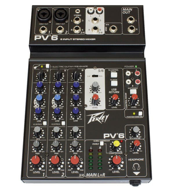 Peavey PV 6 Non Powered Mixer - The Guitar World