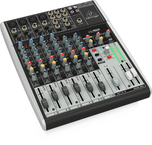 BEHRINGER XENYX 1204USB Premium 12-Input 2/2-Bus Mixer with XENYX Mic Preamps & Compressors, British EQs and USB/Audio Interface