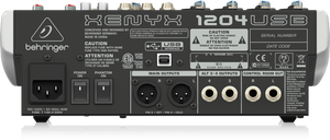 BEHRINGER XENYX 1204USB Premium 12-Input 2/2-Bus Mixer with XENYX Mic Preamps & Compressors, British EQs and USB/Audio Interface - The Guitar World