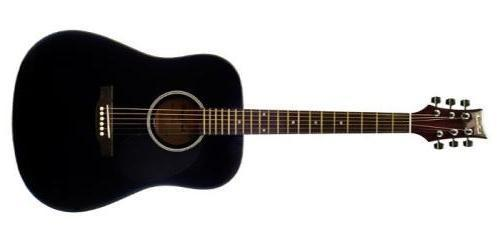 BeaverCreek BCTD101 Dreadnought Acoustic Guitar in Black - The Guitar World