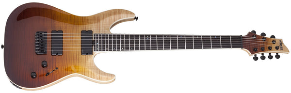 Schecter 7 String Swamp Ash Body Flamed Maple Top - Antique Fade Burst 1354-SHC - The Guitar World