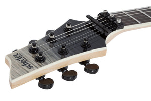 Schecter Left-handed with Swamp Ash Body, Flamed Maple Top - Black Fade Burst 1361-SHC