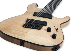 Schecter 7 String Solid-Body Electric Guitar Elite Multi-Scale in Gloss Natural 1366-SHC - The Guitar World