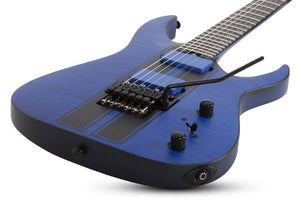 Schecter Banshee GT-FR 6-String Electric Guitar in Trans Blue1520-SHC - The Guitar World