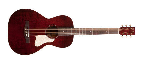 Art & Lutherie Roadhouse Parlor 6-String RH Acoustic Guitar in Tennessee Red