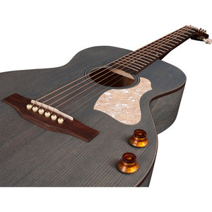 Art & Lutherie Roadhouse Q-Discrete Parlor-Style Acoustic Electric Guitar in Denim Blue 047079