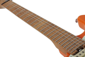Schecter Nick Johnston Traditional H S bS Left-Handed Electric Guitar, Atomic Orange 1544-SHC