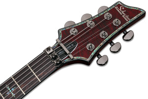Schecter Hellraiser C-1 with Floyd Rose and Sustainiac 6 String Electric Guitar - Black Cherry 1826-SHC - The Guitar World