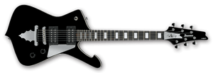 Ibanez PSM10-BK Paul Stanley Signature 6 String Electric Guitar in Black