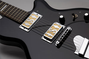 Supro Westbury Jet Black Guitar 2020JB - The Guitar World