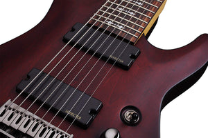 Schecter OMEN 8 string Solid body Electric Guitar - Walnut Stain 2074-SHC - The Guitar World