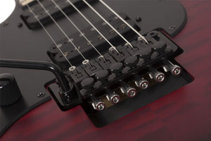 Schecter Miles Dimitri Baker SVSS Left-Handed Bass in Crimson Red Burst Satin 2136-SHC - The Guitar World