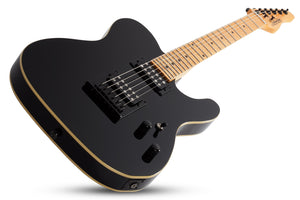 Schecter PT-MM-BLK Gloss Black 6 String Electric Guitar with Schecter Super Rock II 2140-SHC