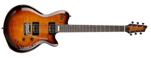 GODIN LGXT IN COGNAC BURST FLAME AA - The Guitar World