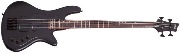 Schecter Stiletto Stealth Bass in Satin Black - SKU 2522-SHC