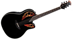Ovation Standard Elite Series Deep Contour Acoustic-Electric in Black 2778AX-5 - The Guitar World