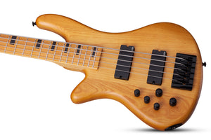 Schecter Stiletto-5 Session Left-Handed Bass Aged Natural Satin 2855-SHC - The Guitar World