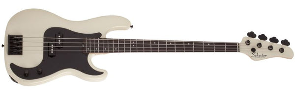 Schecter P-4 Flat Top Electric Bass in Ivory 2920-SHC - The Guitar World