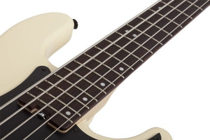 Schecter P-5 Flat Top Electric Bass in Ivory 2922-SHC - The Guitar World