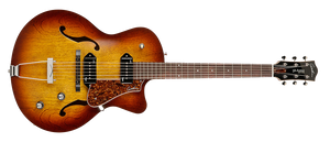 GODIN 5TH AVENUE CUTAWAY KINGPIN II P90 IN COGNAC BURST