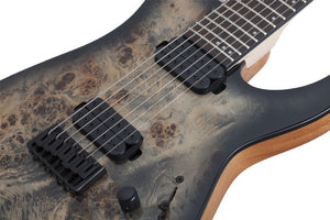 Schecter C-7 Pro 7-String Electric Guitar in Charcoal Burst 3637-SHC - The Guitar World