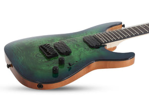 Schecter C-7 Pro 7-String Electric Guitar in Aqua Burst 3638-SHC - The Guitar World
