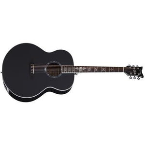 Schecter Signature Mahogany Body Acoustic Guitar in Gloss Black 3703-SHC - The Guitar World