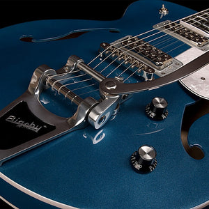 Godin Montreal Premiere LTD in Desert Blue with TV Jones & Bigsby 042562