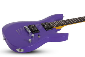 Schecter C-6 Deluxe 6-String Electric Guitar in Satin Purple 429-SHC - The Guitar World