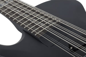 Schecter Dug Pinnick DP-12 Left-Handed Electric Bass, Satin Black 460-SHC